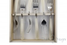 6 piece fork set, ivory resin