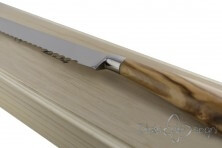 bread knife, olive wood