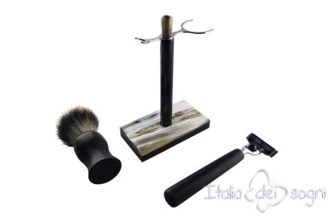 bathroom shaving set, ebony