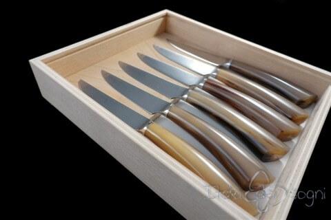 6 coltelli bistecca rustico bue