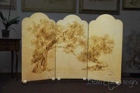 Paravento in legno