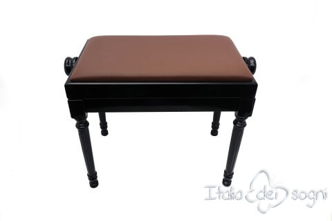 """Klavierbank """"Bellini"""" - braun aus echtem Lede"""