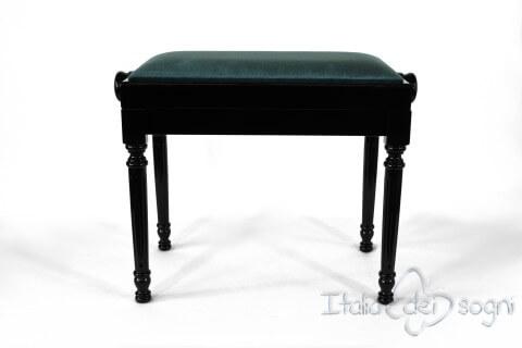 """Small Bench for Piano """"Bellini"""" - Light Blue Velvet"""