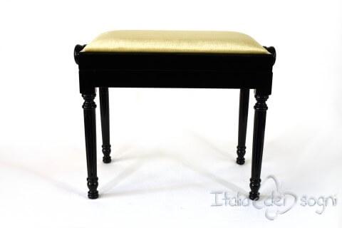 """Small Bench for Piano """"Bellini"""" - Beige Velvet"""