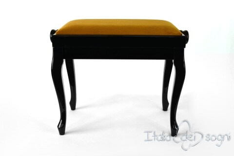 "Small Bench for Piano ""Vivaldi"" - Gold Velvet"