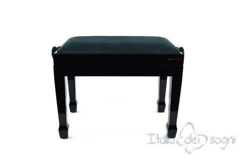 "Small Bench for Piano ""Fiorentino"" - Light Blue Velvet"