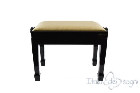 "Small Bench for Piano ""Fiorentino"" - Beige Velvet"