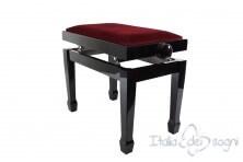 "Small Bench for Piano ""Fiorentino"" - Bordeaux Velvet"