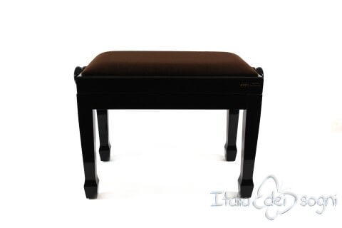 "Small Bench for Piano ""Fiorentino"" - Brown Velvet"