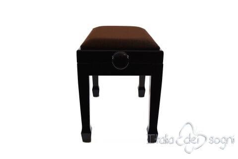 "Small Bench for Piano ""Fiorentino"" - Brown Velvet"