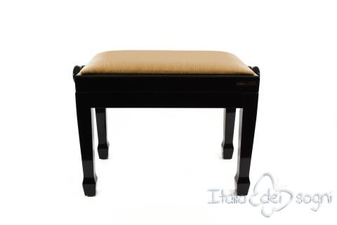 "Small Bench for Piano ""Fiorentino"" - Hazelnut Velvet"