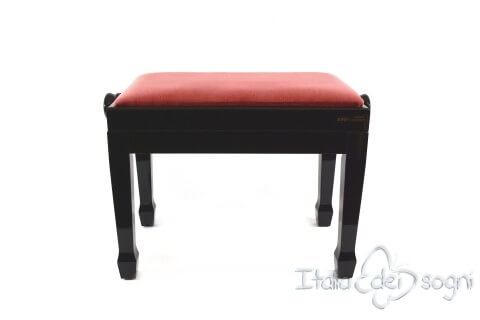 "Small Bench for Piano ""Fiorentino"" - Pink Velvet"
