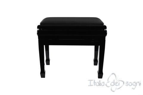 "Klavierbank ""Flores"" - schwarz aus echtem Leder"