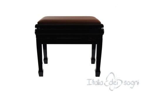 """Klavierbank """"Flores"""" - braun aus echtem Lede"""