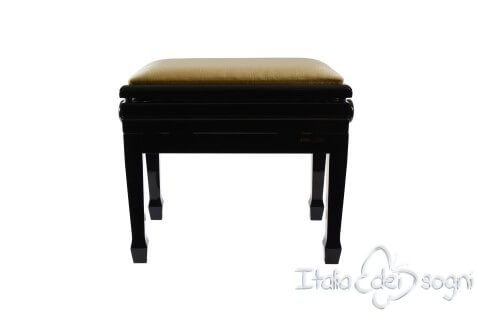 "Small Bench for Piano ""Flores"" - Beige Velvet"