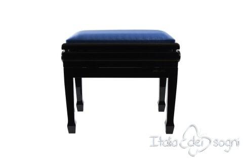 """Tamburet de Piano """"Flores"""" - Velours Blue"""