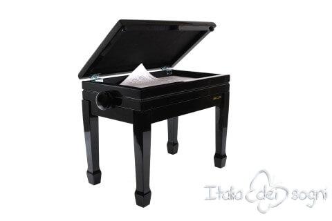 "Small Bench for Piano ""Flores"" - Bordeaux Velvet"