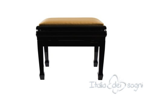 "Small Bench for Piano ""Flores"" - Hazelnut Velvet"
