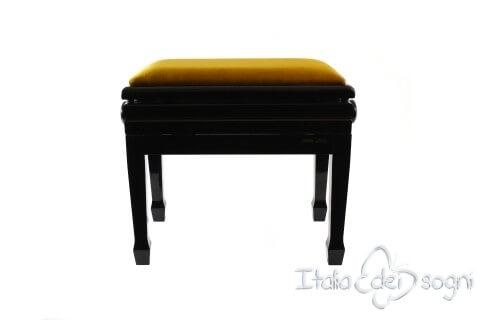 """Klavierbank """"Flores"""" - Gold Samt"""