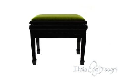"Klavierbank ""Flores"" - grünem Samt"