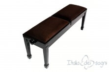 "Small Bench for Piano ""Casella"" - Brown Velvet"