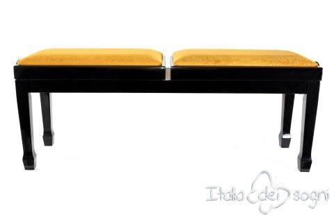 """Klavierbank """"Casella"""" - Gold Samt"""