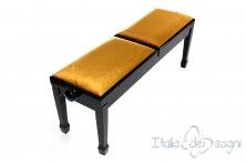 """Small Bench for Piano """"Casella"""" - Gold Velvet"""