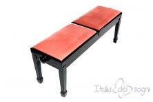 """Small Bench for Piano """"Casella"""" - Pink Velvet"""