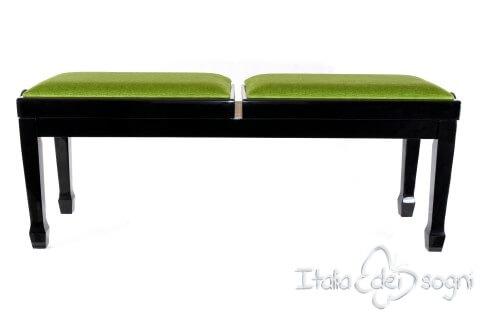 "Klavierbank ""Casella"" - grünem Samt"