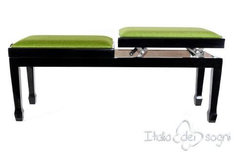 """Panchetta """"Casella"""" - Velluto verde"""